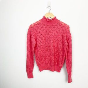 Anthro Knitted & Knotted Ruffle Wool Sweater (XS)